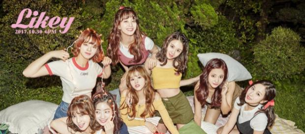 "Image via JYP Entertainment's free social media pre-release promotions for Twice's ""Likey"""