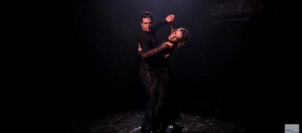 Lindsey Stirling and Mark Ballas on 'DWTS.' - [Image Credit: Dancing With The Stars/YouTube]