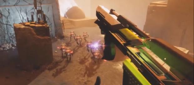 The new weapon that was spotted in 'Destiny 2's' 'Curse of Osiris.' - YouTube/More Console