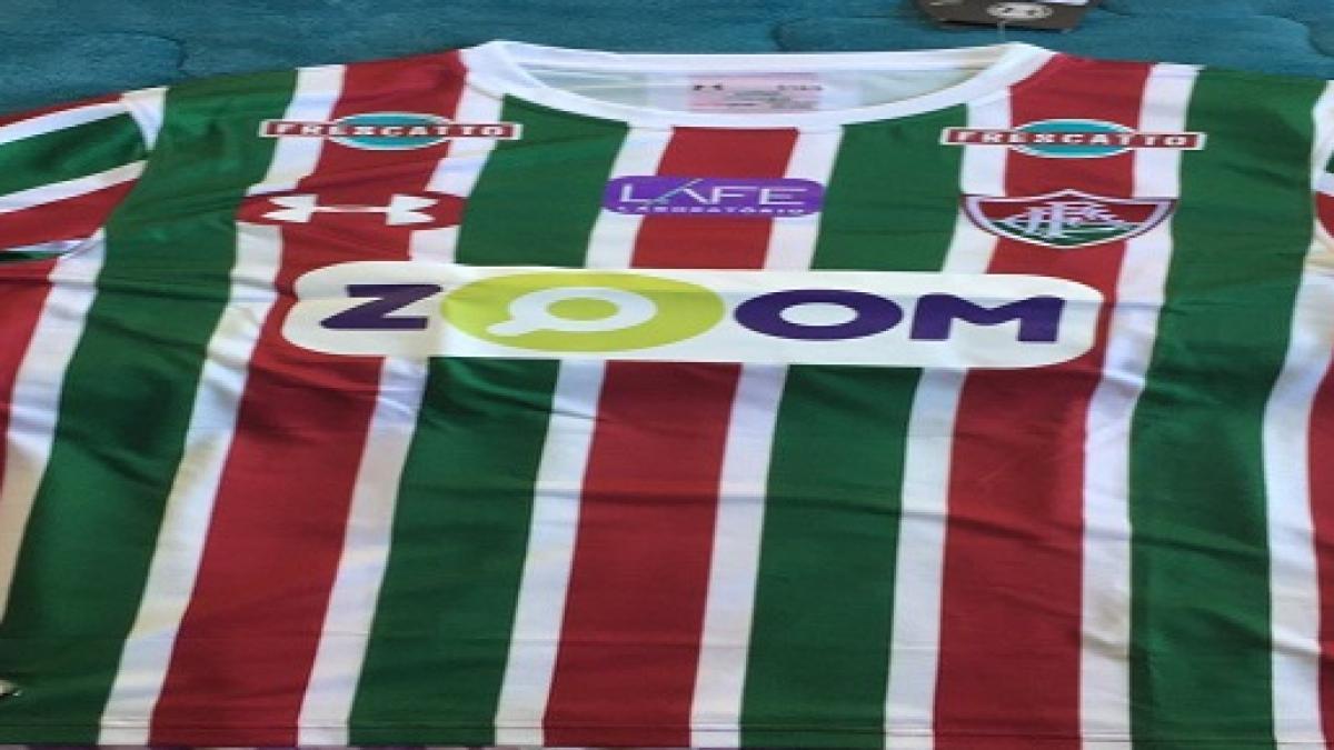 f6ee4515cb Nova parceira master do Fluminense exibe primeiras imagens nas redes sociais