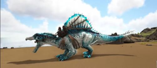 A Frost Spino in 'ARK: Survival Evolved' - (Image Credit: KingDaddyDMAC/YouTube screencap)
