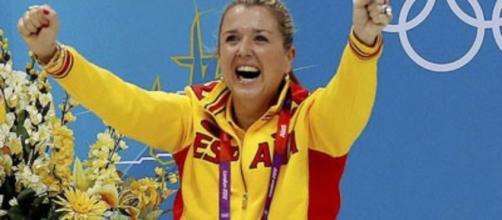 Anna Tarrés durante una competición