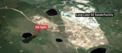 Huge Alberta pipeline spill- Image credit - The National | YouTube