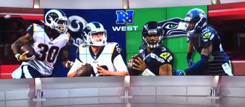 Seahawks and Rams battle for NFC West title. -- [NFL Network / YouTube screencap]