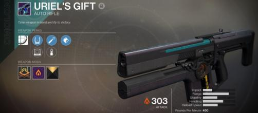 Uriel's Gift is a fan-favourite because of its versatility and usefulness in PvE challenges. [Image Credit: covertpetersen/imgur]