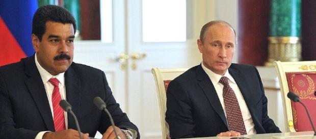 El presidente de Venezuela Nicolas Maduro y el presidente de Rusia Vladimir Putin