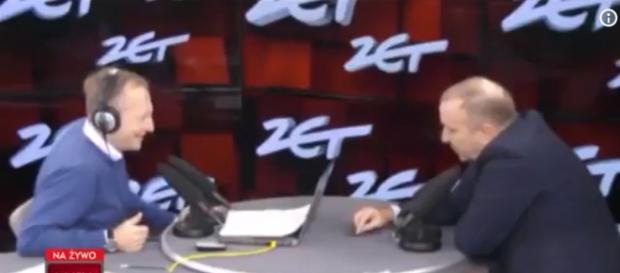 Grzegorz Schetyna goszczący w programie Krzysztofa Piaseckiego (screen Twitter).