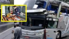 Ônibus vitima crianças e adolescentes em acidente gravíssimo em serra de SC