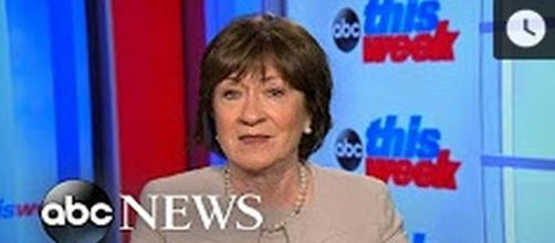 Maine GOP Senator Susan Collins. - [Image Source ABC / YouTube screencap]