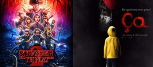 Affiches de la série Netflix STRANGER THINGS et du film ÇA.