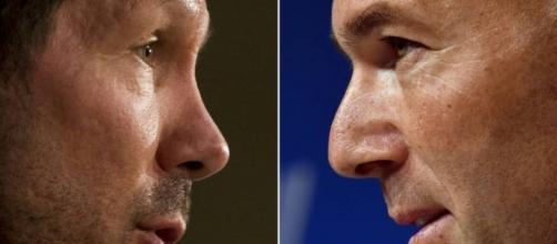 Simeone y Zidane, las caras de la crisis