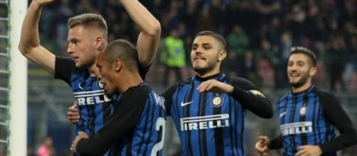 Inter, il difensore Milan Skriniar dopo un gol alla Sampdoria