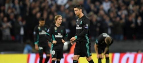 Cristiano Ronaldo se lamenta en el partido ante el Tottenham
