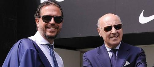 Fabio Paratici e Beppe Marotta, rispettivamente dg e ad della Juventus dal 2010