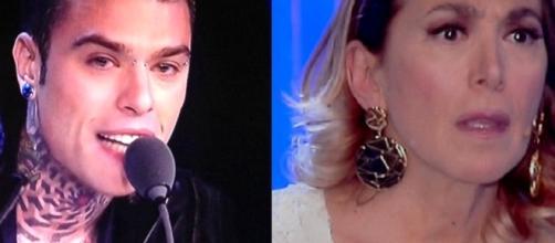 Fedez contro Barbara D'Urso durante X Factor 2017 Samuel Storm
