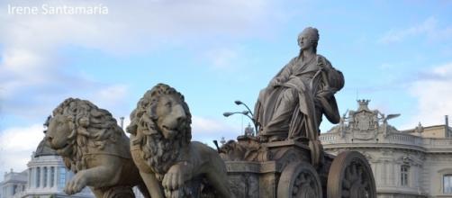 La imponente efigie de la diosa sobre su carro. Imagen de la autora.