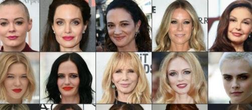 Los rostros de las víctimas de abuso sexual de Harvey Weinstein(vía El sol de México)