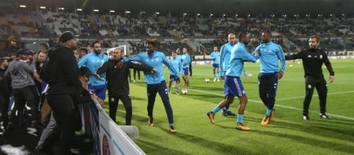 Patrice Evra does a Cantona and KICKS Marseille fan in the head ... - thesun.co.uk