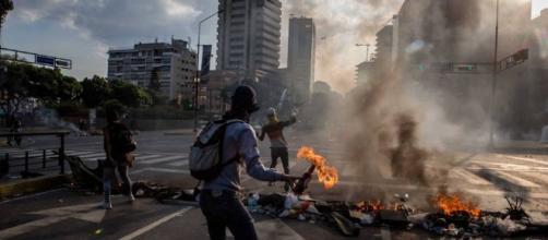 Las protestas en Venezuela en el añio 2017, durante más de tres meses.