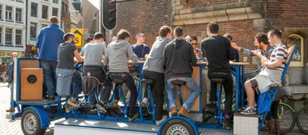 Amsterdam bans beer bikes amid complaints - (Image Credit: BBC News/Youtube screencap)