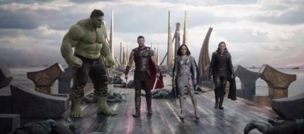 'Thor: Ragnarok' lead characters (Image Credit: Marvel Entertainment/YouTube screencap)