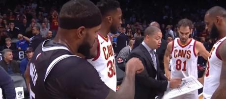The Cavaliers roster changed before a road game versus the Pistons. -- [Bleacher Report via YouTube screencap]