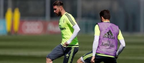 Entrenamiento futbolístico del Real Madrid.