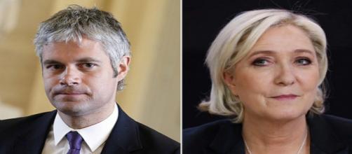 Laurent Wauquiez et Marine Le Pen