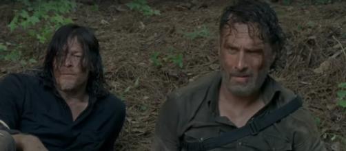 Rick and Daryl in 'TWD' 8x05 / [Image via Jesus, YouTube screencap]