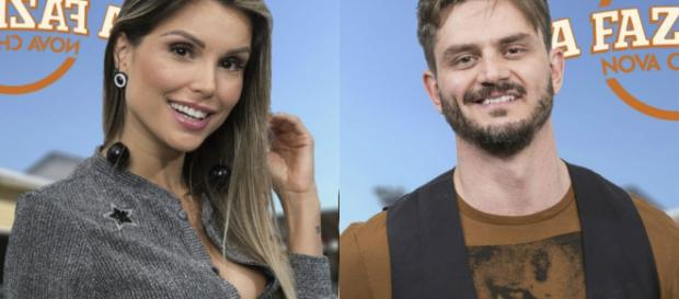 Marcos Harter e Flávia trocam farpas na Fazenda