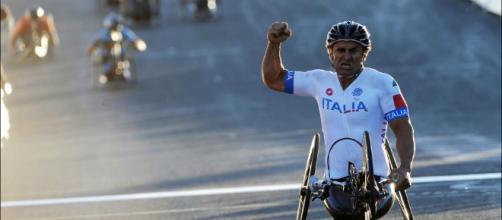 Alex Zanardi alla Florence Marathon (foto - mifacciodicultura.it)