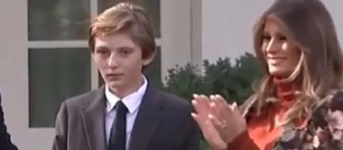 Barron Trump and Melania Trump (Photo via Youtube screenshot/CHANNEL 90 Seconds Newsroom)