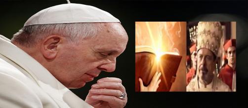 Imagem do Papa é amplamente divulgada na trama