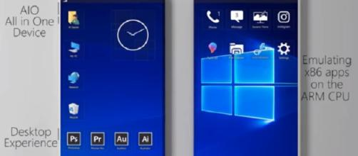 Microsoft Surface Phone to sport a folding body, reveals new patent. [Image credit:hardik bagaria/YouTube screenshot]