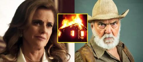 Sophia 'queima' Josafá em 'O Outro Lado do Paraíso'