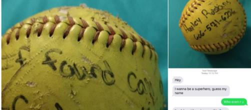 Woman throws a softball in the ocean, gets response 6 years later