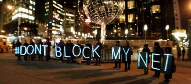 NYC protest against net neutrality. - [Backbone Campaign via flickr]