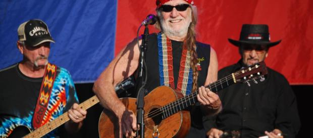 Willie Nelson in concert at Stockton's Banner Island Park in 2009. [image credit: Bob Tildon / Flickr]