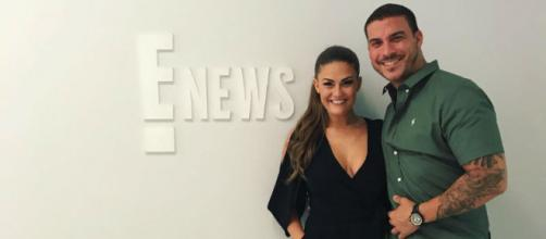 Brittany Cartwright and Jax Taylor visit the E! News studios. [Image via Instagram]