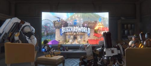 [COMING SOON] Blizzard World | New Hybrid Map | Overwatch [Image Credit: PlayOverwatch/YouTube screencap]