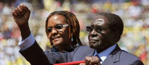 L'ex-président Robert Mugabe et son épouse