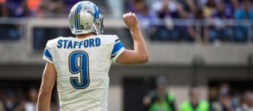 Matt Stafford and the Lions face the Vikings on Thanksgiving. [Image via USAToday Sports/YouTube]