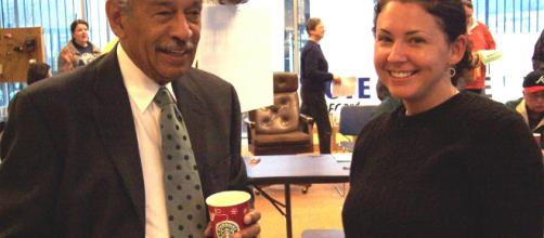 Rep. John Conyers Jr. with Jessica Weinsten - AFL-CIO America's Unions via flickr