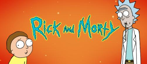 'Rick and Morty' with orange background. [Image via Lilnoob/Twitter]