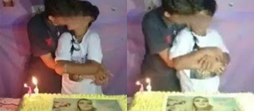 Vídeo de garotos se beijando viraliza na internet.(Foto internet)