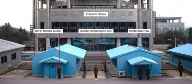 Fotografie din Coreea de Nord, pe partea din Zona Demilitarizată a acesteia, făcută în acest an - Foto: MS News ( © CNN)