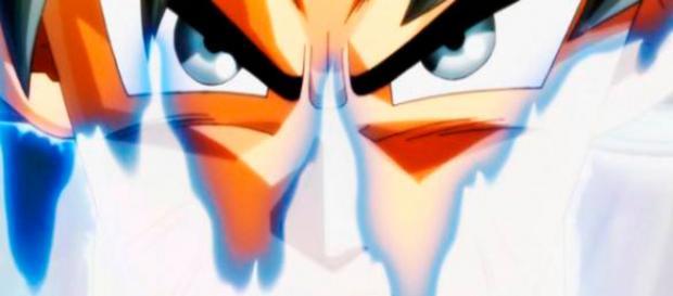 Goku mostrando su misterioso poder
