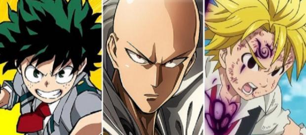 Ilustración de 'Hero Academia', 'One Punch Man' y 'Nanatsu no Taizai'
