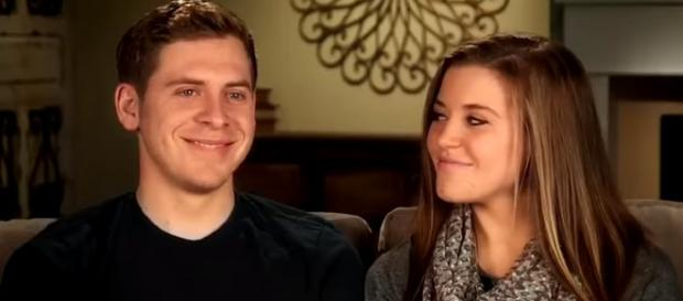 Joy-Anna Duggar with her husband. - [Entertainment Tonight / YouTube screencap]