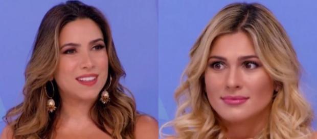 Lívia ataca Patrícia após não gostar de brincadeira da filha do patrão